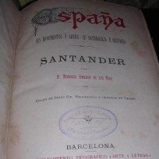 Libros antiguos: D.RODRIGO AMADOR DE LOS RIOS, SANTANDER. Lote 13284852
