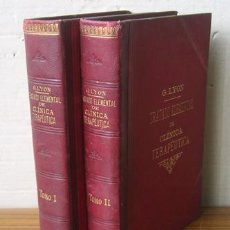 Libros antiguos: 2VOL, TRATADO ELEMENTAL DE CLINICA TERAPEUTICA. Lote 28655141