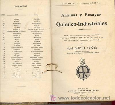 Libros antiguos: 1912 ANALISIS Y ENSAYOS QUIMICO-INDUSTRIALES - Foto 2 - 25332084