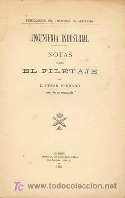 1913 NOTAS SOBRE EL FILETAJE (Libros Antiguos, Raros y Curiosos - Ciencias, Manuales y Oficios - Otros)