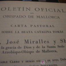 Libros antiguos: BOLETIN OFICIAL DEL OBISPADO DE MALLORCA. Lote 5464286