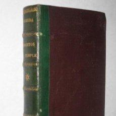 Libros antiguos: BOCETOS AL TEMPLE, TIPOS TRASHUMANTES, POR JOSÉ MARÍA DE PEREDA. TOMO VIII OBRAS COMPLETAS. 1888. Lote 24561306