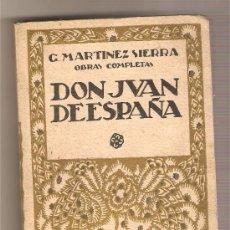 Libros antiguos: DON JUAN DE ESPAÑA .-GREGORIO MARTÍNEZ SIERRA. Lote 25679626