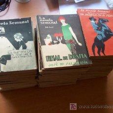 Libros antiguos: EXCEPCIONAL LOTE CON 190 NÚMEROS DIFERENTES DE LA NOVELA SEMANAL - ¡¡¡CASI LA COLECCION COMPLETA!!! . Lote 26613974