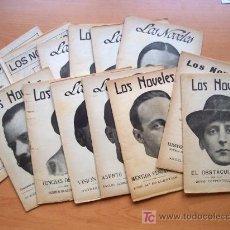 Libros antiguos: LOTE 14 NÚMEROS DE LA COLECCION LOS NOVELES (1916) - CON TAPA ORIGINAL DE ÉPOCA PARA EL PRIMER TOMO. Lote 26777440