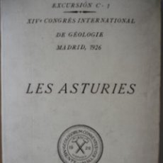 Libros antiguos: ASTURIAS,GEOLOGIA.SATURNINO CALLEJA. Lote 26455801