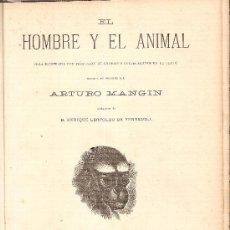Libros antiguos: EL HOMBRE Y EL ANIMAL / A. MANGIN. BARCELONA : MONTANER Y SIMON, 1874. 29 X 20 CM. 160 PAG. TELA ED.. Lote 26945943