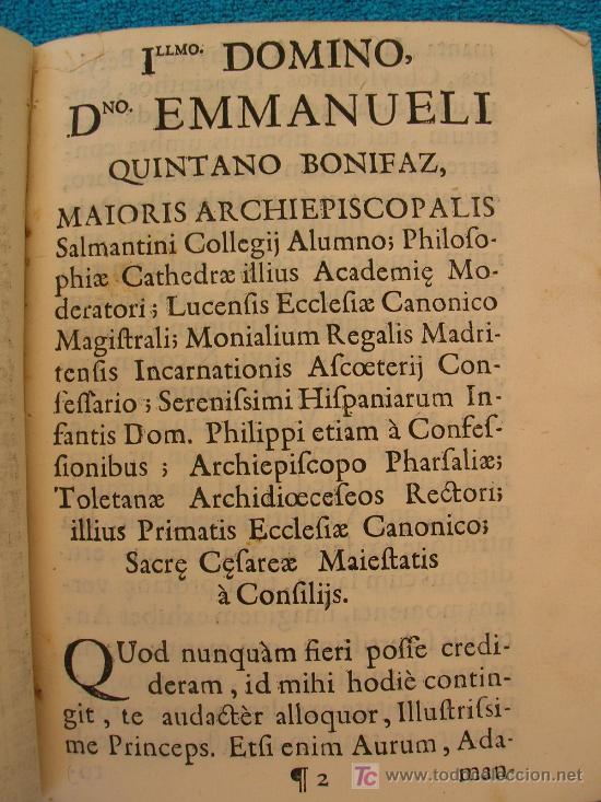 Libros antiguos: 1750. PROLUSIO ACADEMICA, SACRO-PROFANA DE HOMINUM PRINCIPATU ET PRAEFACTURA. - Foto 3 - 26696058