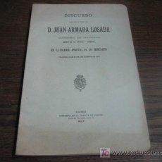 Libros antiguos: DISCURSO DE D.JUAN ARMADA LOSADA EN LA APERTURA DE LOS TRIBUNALES EL 16 DE SEPTIEMBRE DE 1907. Lote 15099755