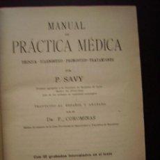 Libros antiguos: MANUAL DE PRACTICA MEDICA COLECCION TESTUD P. SAVY. GRABADOS. Lote 25453872
