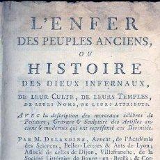 Libros antiguos: 1784: INFIERNO - L'ENFER DES PEUPLES ANCIENS, OU HISTOIRE DES DIEUX INFERNAUX. Lote 27634266