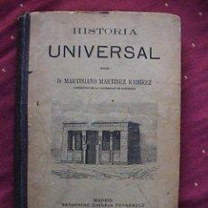Libros antiguos: COMPENDIO DE HISTORIA UNIVERSAL.. Lote 25465514