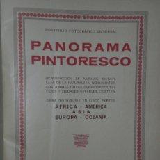 Libros antiguos: PANORAMA PINTORESCO. PORTFOLIO FOTOGRÁFICO UNIVERSAL. (1931). Lote 19744516