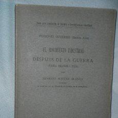 Libros antiguos: EL MOVIMIENTO INDUSTRIAL DESPUÉS DE LA GUERRA (FRANCIA, INGLATERRA E ITALIA). Lote 27603866