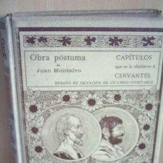 Libros antiguos: CAPÍTULOS OLVIDADOS DE CERVANTES - JUAN MONTALVO-1898 -. Lote 12253950