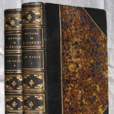 Libros antiguos: LE NABAB, POR DAUDET, ALPHONSE, EDITORIAL LEMERRE, 1887. EDICION DE LUJO. 2 TOMOS. Lote 27284273