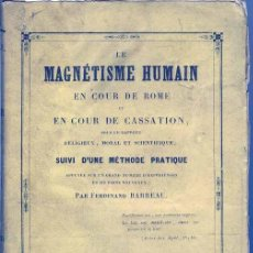 Libros antiguos: 1845: MAGNETISMO HUMANO. Lote 27319085