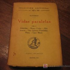 Libros antiguos: VIDAS PARALELAS TOMO IV. Lote 6367421