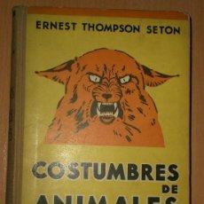 Alte Bücher - COSTUMBRES DE ANIMALES SALVAJES.(1932) - 20289655