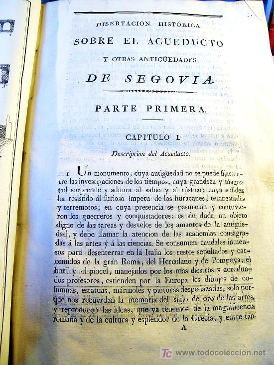 Libros antiguos: EL ACUEDUCTO Y OTRAS ANTIGUEDADES DE SEGOVIA,-GOMEZ DE SOMORROSTRO ( SOLO MADRID ) - Foto 11 - 32576432
