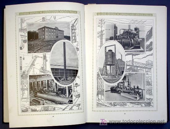 Libros antiguos: SOCIEDAD ESPAÑOLA DE CONSTR. BABCOCK & WILCOX. CATALOGO GENERAL. GALINDO, BILBAO, MADRID, POST 1920. - Foto 4 - 25648052
