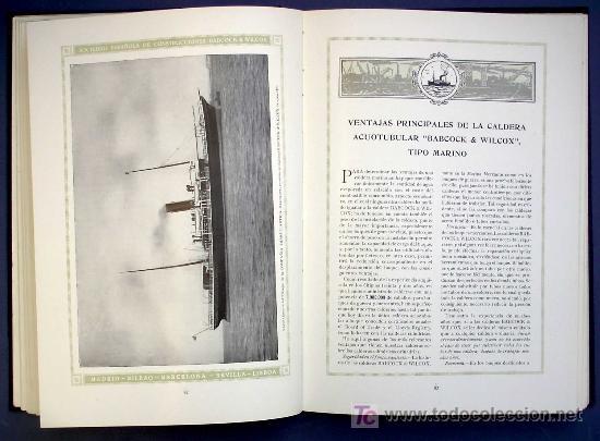 Libros antiguos: SOCIEDAD ESPAÑOLA DE CONSTR. BABCOCK & WILCOX. CATALOGO GENERAL. GALINDO, BILBAO, MADRID, POST 1920. - Foto 7 - 25648052