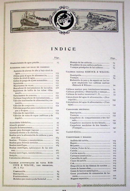 Libros antiguos: SOCIEDAD ESPAÑOLA DE CONSTR. BABCOCK & WILCOX. CATALOGO GENERAL. GALINDO, BILBAO, MADRID, POST 1920. - Foto 13 - 25648052