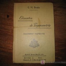 Alte Bücher - ELEMENTOS DE TRIGONOMETRIA - 8371850