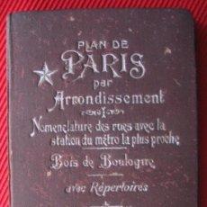 Libros antiguos: PLAN DE PARIS - PER ARRONDISSEMENT. Lote 6887496