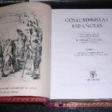 Libros antiguos: AGUILAR DE LUJO, COSTUMBRISTAS ESPAÑOLES POR E. CORREA CALDERON , COLECCION AGUILAR, MADRID. Lote 26158488