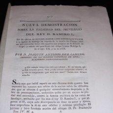 Libros antiguos: NUEVA DEMOSTRACION SOBRE LA FALSEDAD DEL PRIVILEGIO DEL REY D. RAMIRO I, CIUDAD DE LUGO S.XVIII. Lote 26740955