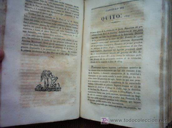 Libros antiguos: HISTORIA DE LA REVOLUCION HISPANO AMERICANA. MARIANO TORRENTE. 1829-1830 1ª EDICION. PLANOS Y MAPAS. - Foto 6 - 27016148