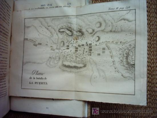 Libros antiguos: HISTORIA DE LA REVOLUCION HISPANO AMERICANA. MARIANO TORRENTE. 1829-1830 1ª EDICION. PLANOS Y MAPAS. - Foto 10 - 27016148