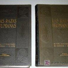 Libros antiguos: ANTIGUOS LIBROS (2 TOMOS) DE LAS RAZAS HUMANAS - AÑO 1928 - INSTITUTO GALLACH DE LIBRERIA Y EDICION. Lote 27164952