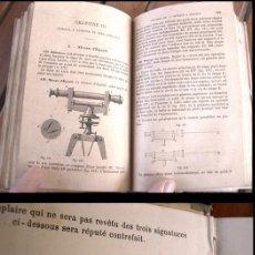 Libros antiguos: 1888, ARPENTAGE, LEVÉ DES PLANS ET NIVELLEMENT. INTERESANTE LIBRO DE ARQUITECTURA. . Lote 27512983