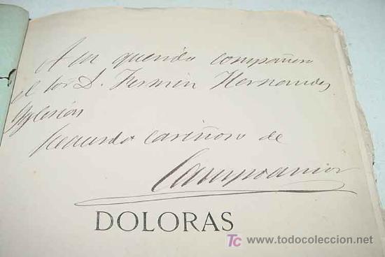 Libros antiguos: Doloras - Edic. ilustrada - Primera Edicion 1878 - Campoamor, Ramón de - Biblioteca Perojo - Cubiert - Foto 2 - 26281334