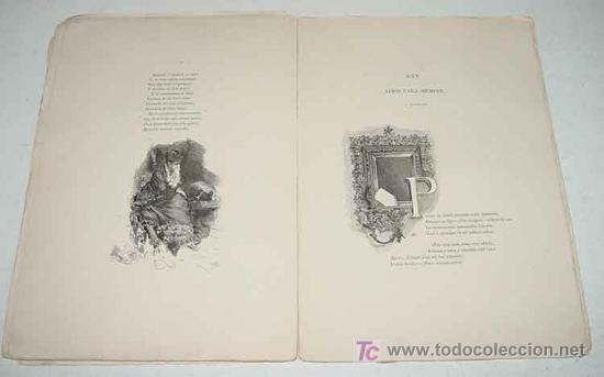 Libros antiguos: Doloras - Edic. ilustrada - Primera Edicion 1878 - Campoamor, Ramón de - Biblioteca Perojo - Cubiert - Foto 4 - 26281334