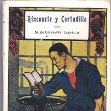 Libros antiguos: RINCONETE Y CORTADILLO _ TOMO 18 BIBLIOTECA DE CULTURA GENERAL. Lote 11958452