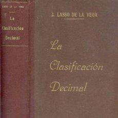 Libros antiguos: 1942 LA CLASIFICACION DECIMAL. Lote 20804655