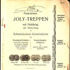 Livres anciens: JOLY-TREPPEN. CATALOGO DE BARANDILLAS DE ESCALERA. ALEMÁN. SIN AÑO (C. 1910). Lote 42785304
