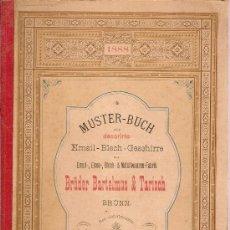 Libros antiguos: MUSTER-BUCH UBER DECORIRTE EMAIL-BLECH-GESCHIRRE DER EMAI, EISEN,BLECH & METALLWAAREN FABRIK. 1888. Lote 26672790
