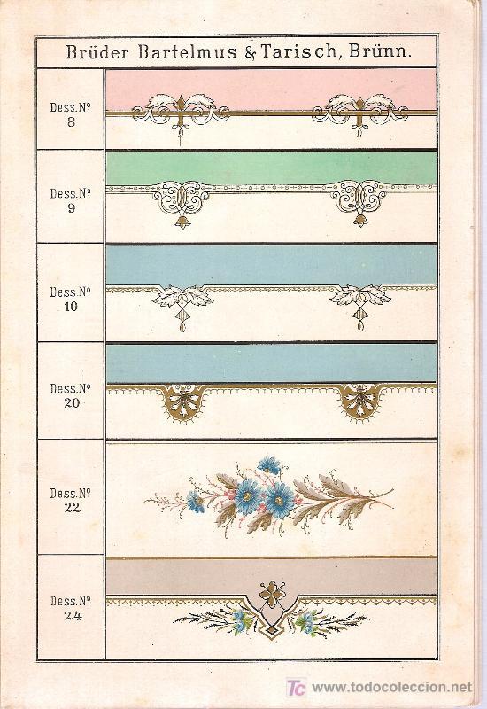 Libros antiguos: Muster-Buch uber decorirte Email-Blech-Geschirre der Emai, Eisen,Blech & Metallwaaren Fabrik. 1888 - Foto 2 - 26672790