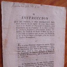 Libros antiguos: AÑO 1799 * CATALUÑA INSTRUCCIONES A LOS PUEBLOS PARA ELEGIR LAS AUTORIDADES * FOLLETO 7 PAGINAS *. Lote 25611068