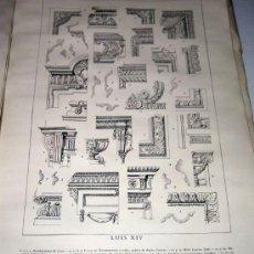 Libros antiguos: ANTIGUO Y MUY CURIOSO LIBRO DE 52 LAMINAS - PERFILES MOLDURAS - COLECCION DE DOCUMENTOS DE ESTILO DE. Lote 27115085