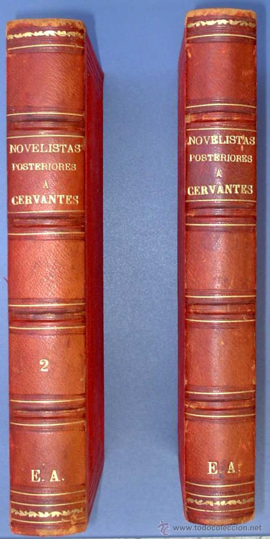 BIBLI. DE AUTORES ESPAÑOLES. NOVELISTAS POSTERIORES A CERVANTES. 2 VOL M. RIVADENEYRA, 1864/71. (Libros Antiguos, Raros y Curiosos - Literatura - Otros)