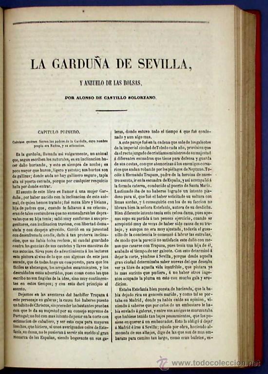 Libros antiguos: BIBLI. DE AUTORES ESPAÑOLES. NOVELISTAS POSTERIORES A CERVANTES. 2 VOL M. RIVADENEYRA, 1864/71. - Foto 9 - 26646229