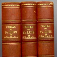 Libros antiguos: BIBL. DE AUTORES ESPAÑOLES. OBRAS DE FRAY LUIS DE GRANADA. 3 TOMOS. M. RIVADENEYRA ED, 1850/51/52.. Lote 23603962