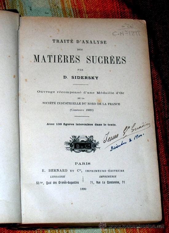 Libros antiguos: TRAITE DANALYSE DES MATIERES SUCREES.SIDERSKY.PARIS 1890. - Foto 4 - 25841558