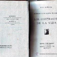 Libros antiguos: LOS CONTRASTES DE LA VIDA. PÍO BAROJA. RAFAEL CARO RAGGIO 1920.. Lote 14255169