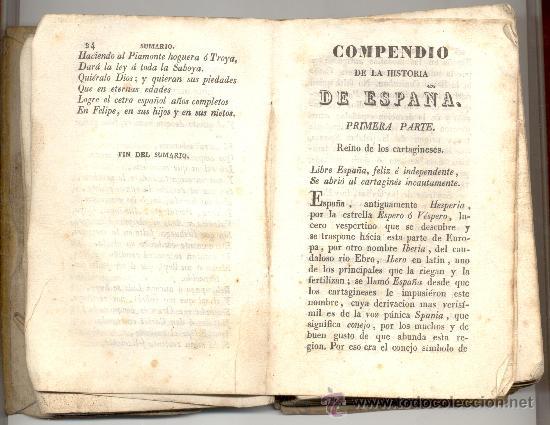COMPENDIO DE LA HISTORIA DE ESPAÑA (Libros Antiguos, Raros y Curiosos - Historia - Otros)